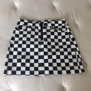✅Women BGD Checkered Skirt Size S